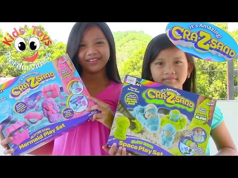 Cra-z-sand Space Playset & Cra-z-sand Mermaid Playset - Kids' Toys video
