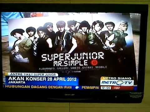 Super Junior Show - Jakarta  Metrotv video