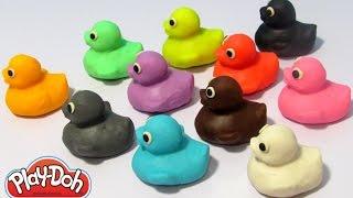Учим цвета на английском языке с уточками из пластилина Play-Doh.