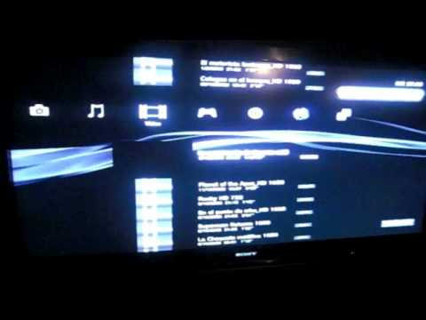ps3 in a 52 sony bravia (video in HD)