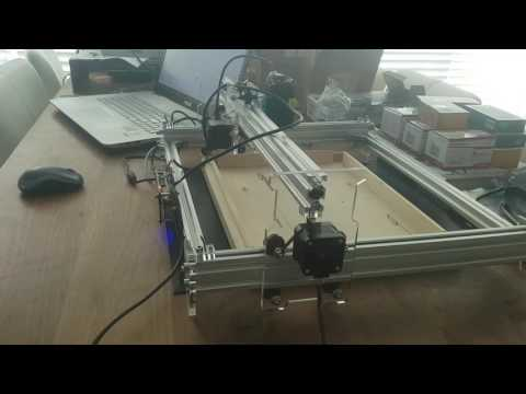 1st test with EleksMaker A3 laser