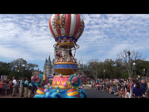 Disney's Festival of Fantasy Parade in 60 Seconds! Includes Anna & Elsa from Frozen!