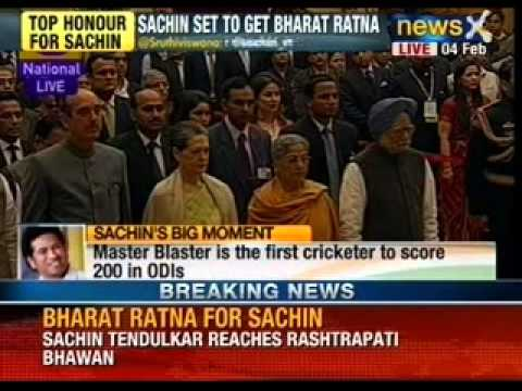 Sachin Tendulkar conferred with Bharat Ratna by the President - NewsX