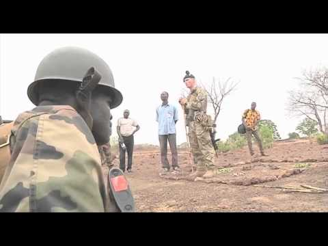 UK and Irish troops training the Mali Army
