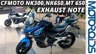AMW CFMoto 300 NK, 650 NK and 650 MT Exhaust Note | Motoroids