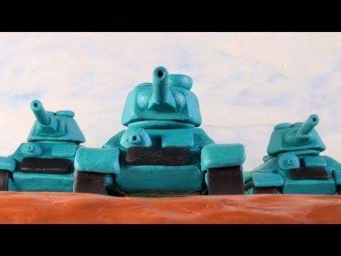Пластилиновый танковый stop-motion мультфильм по World of Tanks
