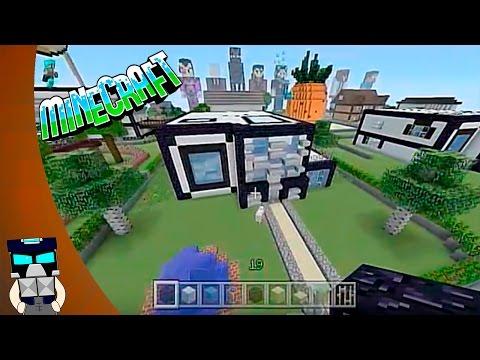 Tutorial casa moderna en Minecraft #8 (como hacer una casa moderna en Minecraft)