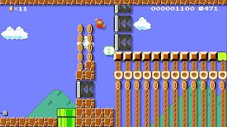 Enter Pipes To Shake Everything! by Mankalor - SUPER MARIO MAKER - NO COMMENTARY