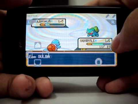 gpSP (Emulador de GBA) e Pokémon Fire Red demonstrado no Nokia N8