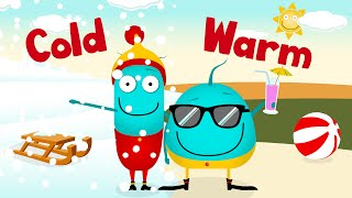 *FULL SONG WARM COLD* | This & That | opposites nursery rhymes | learn for kids