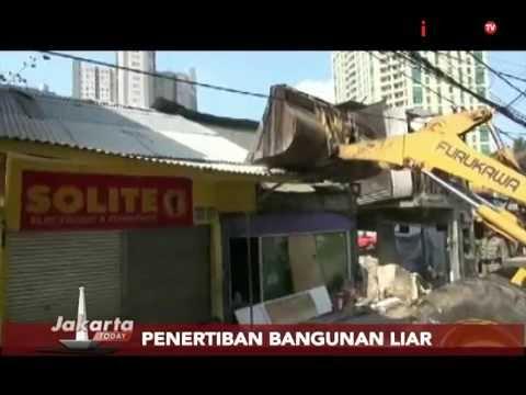 Penertiban Bangunan Liar, Ratusan Bangunan Di Bongkar Paksa Petugas- Jakarta Today 28/07