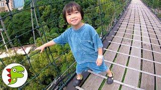 おでかけ マレーシア サンウェイラグーン 長い吊り橋を渡ろう! トイキッズ