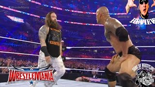 WWE WRESTLEMANIA 2016 THE ROCK & BRAY WYATT FIGHT FULL SHOW REVIEW by sow