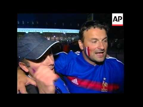 French fans disappointed with loss, reax outside stadium