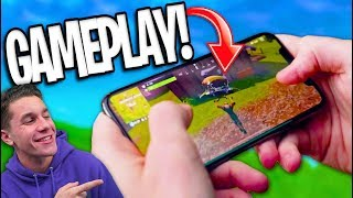 FIRST GAMEPLAY of Fortnite Battle Royale MOBILE! The FUTURE of Mobile Gaming?
