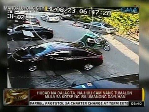 24 Oras: Hubad Na Dalagita, Na-huli Cam Nang Tumalon Mula Sa Kotse Ng Isa Umanong Dayuhan video