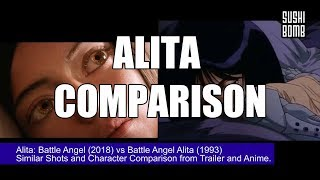 Alita: Battle Angel 2018 Trailer vs Battle Angel Alita Anime Comparison Similar Shots |  SUSHIBOMB