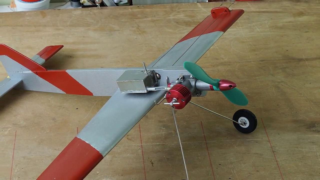 Кордовая модель самолета с электродвигателем своими руками 43