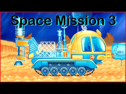Kids Big Outer Space Construction Machines Review Demo:Mission-3 MOON DRILL (Big Trucks & Vehicles)