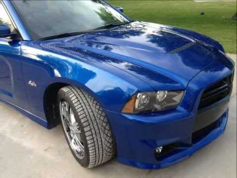 2012 Srt8 Dodge Charger Dunked In Blue Streak Perl With 20