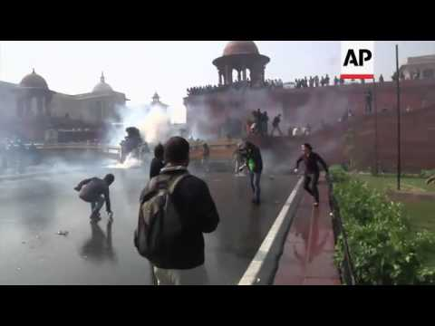 Police use tear gas, water cannons to disperse angry protest over gang rape