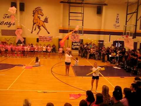 Marble Falls High School Colorguard Pep Rally Routine