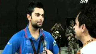 Kohli dedicates win to Sachin