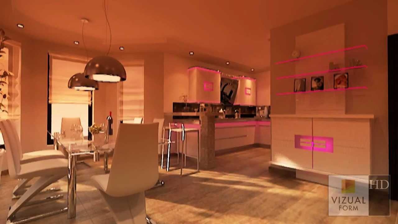 innenraum k che und esszimmer wohnzimmer design youtube. Black Bedroom Furniture Sets. Home Design Ideas
