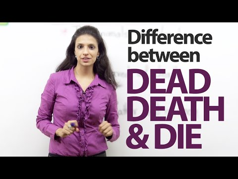 Difference Between -  'dead', 'death' And 'die' – Spoken English Lesson video