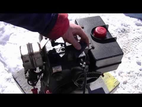 Tecumseh HM100 Snowblower Engine Start Up