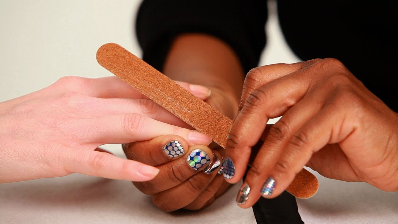How To Cut Amp Shape Nails Manicure Tutorials Youtube