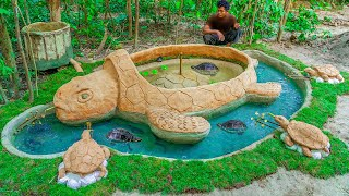 Rescue Fish From Dry Up Place Build Aquarium Fish Pond Around Turtle Pond Shelter