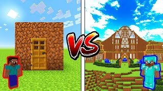 Minecraft NOOB vs. PRO: DIRT HOUSE in Minecraft!