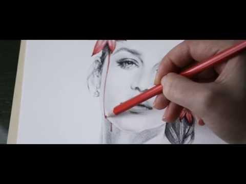 Digital Rain (Drawing Emilia Clarke by StavolAR.t)