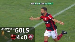 Gols - Flamengo 4 x 0 San Lorenzo (ARG) - Libertadores 2017 - Globo HD