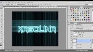 Photoshop Tutorials:3D Neon Yazı Efekt (3D Neon Text Effect)