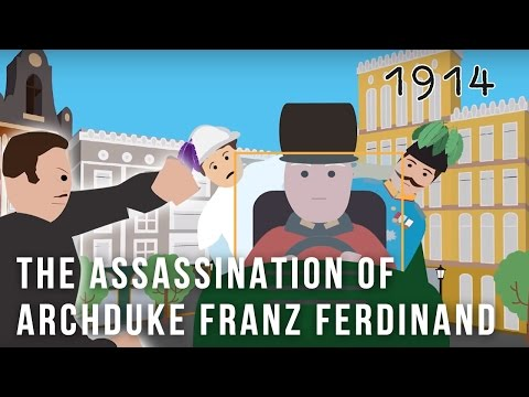 The Assassination of Archduke Franz Ferdinand Cartoon