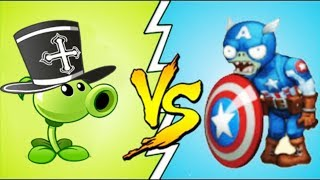 Plants Vs Zombies Fan Made Capitan America Vs Peashooter