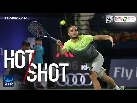 Hot Shot: Troicki Saves Point With Diving Volley Dubai 2018