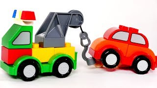 Learn Colors with Building Blocks Tow Truck For Children and Kids