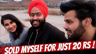 SELLING MYSELF IN PUBLIC (NOT A PRANK ) !