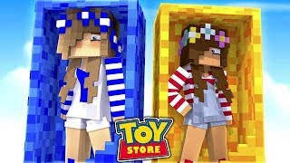 LITTLE ALLY COMES ALIVE AT THE TOYSTORE! w/Little Carly (Minecraft ToyStore).
