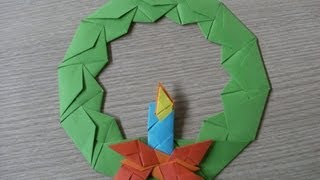 Origami - Advent Wreath With Candle - Wieniec Adwentowy Ze wiec - How To Make