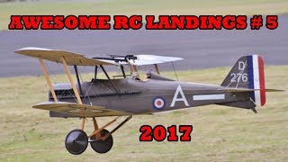 """AWESOME RC LANDINGS"" WW1 FIGHTERS / SCOUTS # 5 - 2017"