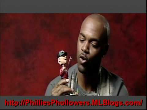 Chase Utley & Jimmy Rollins Play With Charlie Manuel Bobblehead Doll