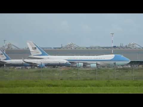 Extreme RARE Air Force One At Rome FCO Airport