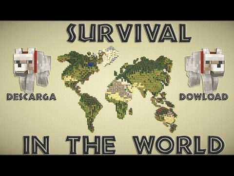 Mapa de supervivencia para minecraft 1.9.2 Survival In The World