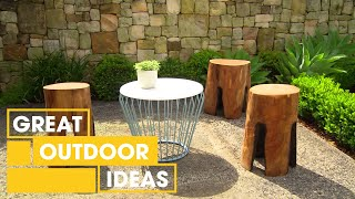 How To Make Your Fire Log Chair | Outdoor | Great Home Ideas