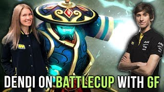 Dendi on Battlecup with his Girlfriend - What a Comeback, what a Game! - Dota 2