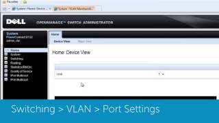 PowerConnect 5500: Creating and applying VLANs to an interface